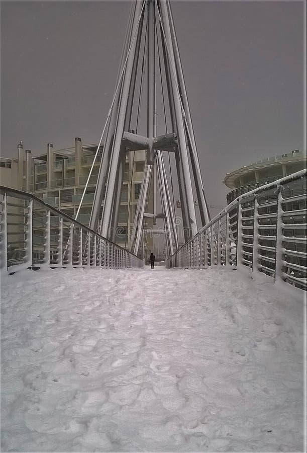 An Ice bridge to the Prua royalty free stock photos
