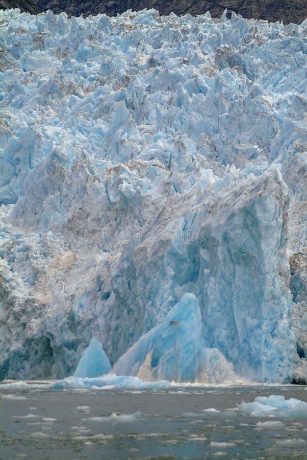 Calving Ice on the LeConte Glacier stock photo