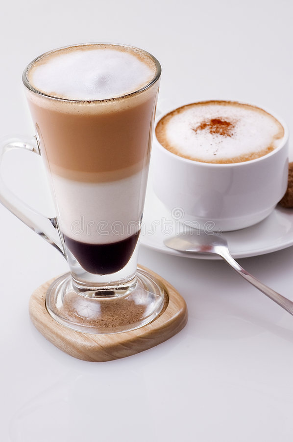 Download Ice Cappucino And Hot Mocca Latte Stock Photography - Image: 9053462