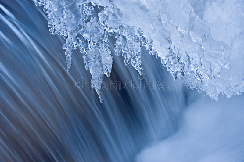 Ice and Cascade royalty free stock images