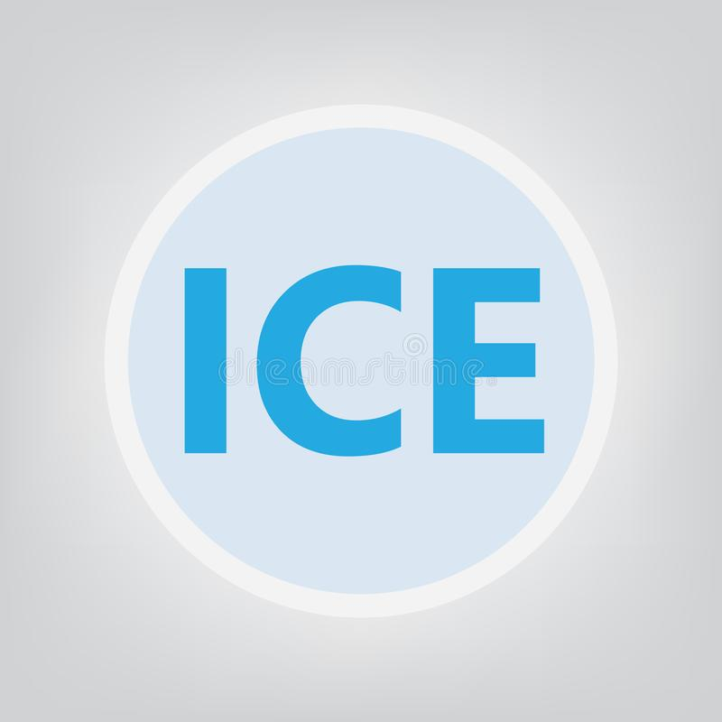 ICE In Case of Emergency concept. Vector illustration stock illustration