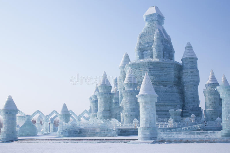 Download Ice Castle In Front Of Blue Sky Editorial Stock Photo - Image of sunshine, castle: 66227298