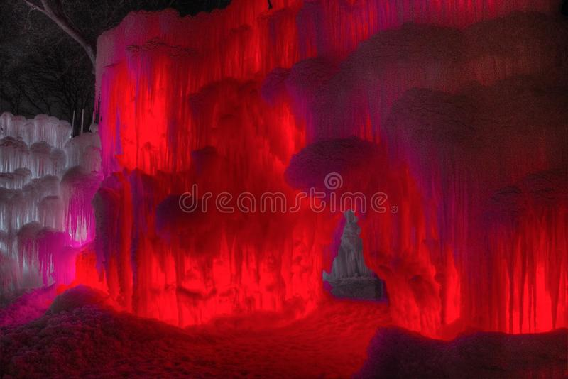Ice Castle just outside of the Twin Cities Minnesota in Stillwater, Wisconsin stock images