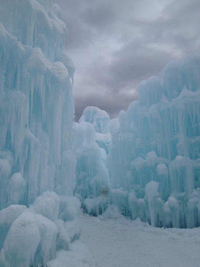 Ice castles royalty free stock photos