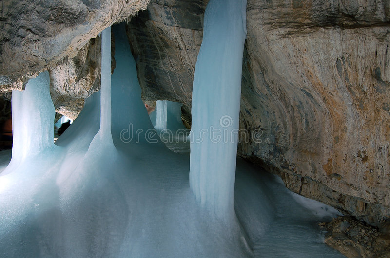 Ice cave royalty free stock image