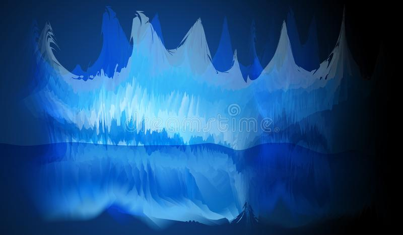 Ice cave is a fantasy stock illustration