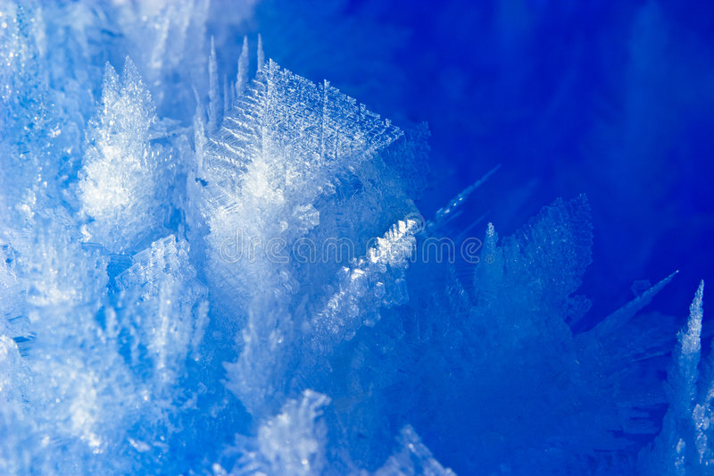 Ice Chrystals. Intricate snow chrystal closeup, Norway royalty free stock images