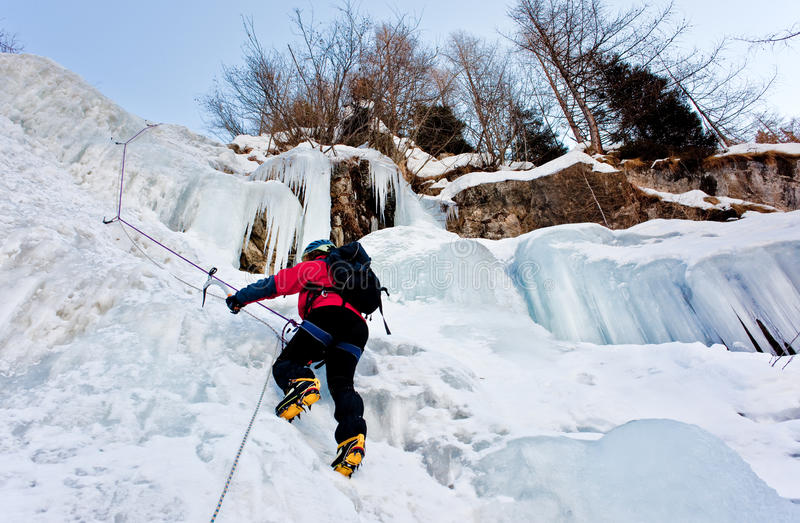 Download Ice climber stock image. Image of climbing, europe, white - 13079693