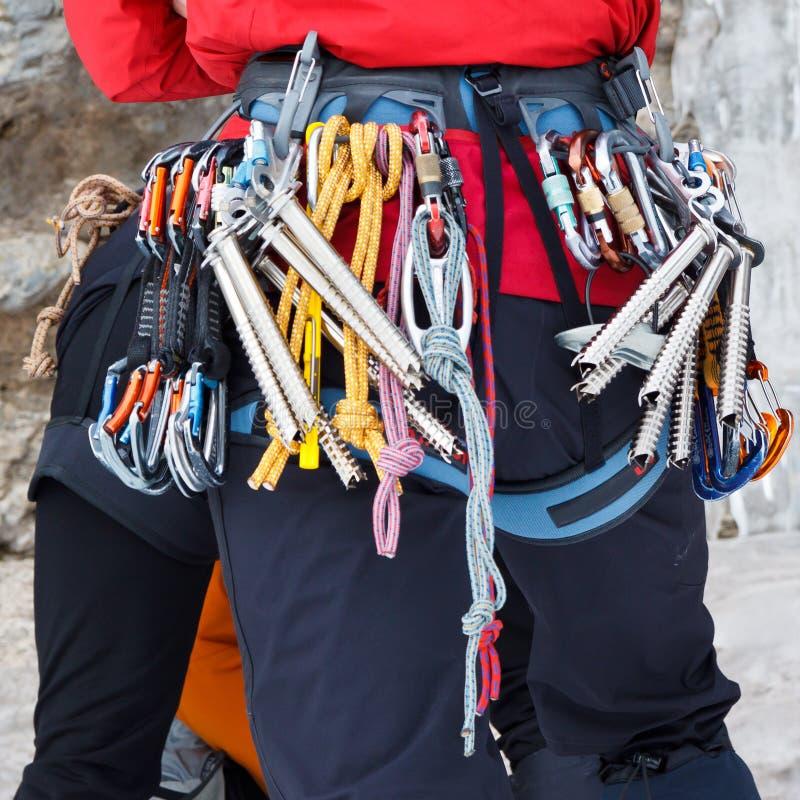 Download Ice Climbing Equipment stock image. Image of carabiner - 28449921