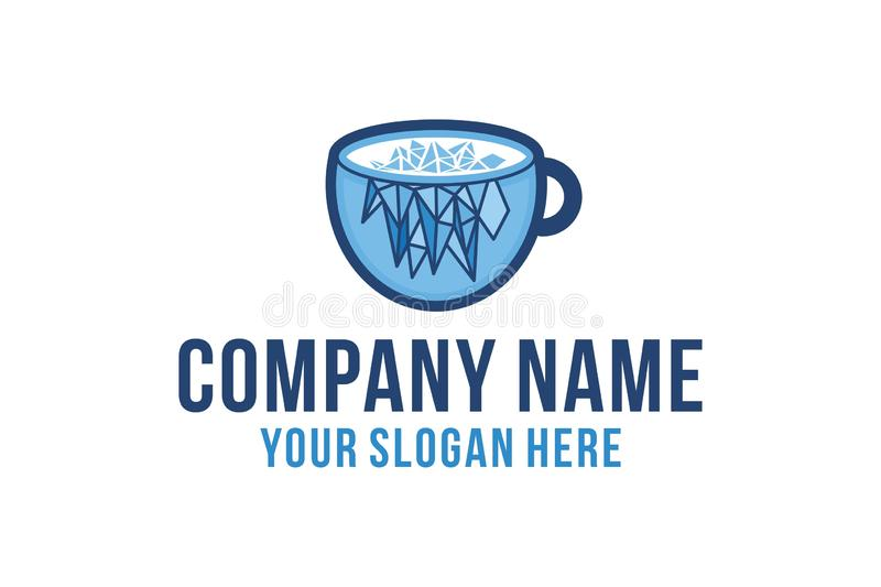 Ice coffee, cold brew, coffee product logo. Ice coffee, cold brew, coffee product logo Designs Inspiration Isolated on White Background royalty free illustration