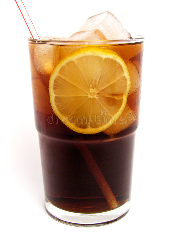Ice cola. In glass