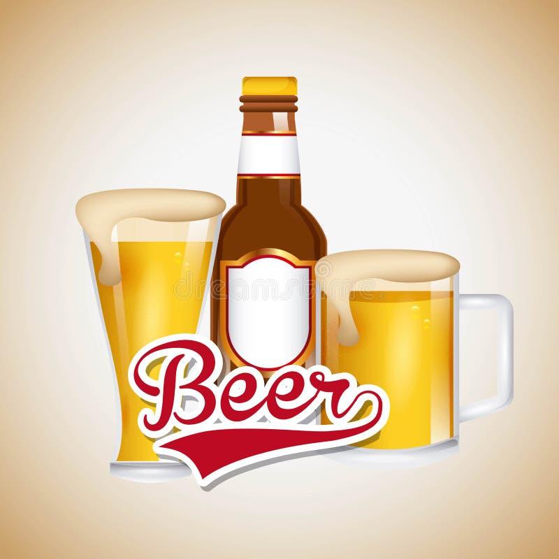 Ice cold beer emblem. Illustration design stock illustration