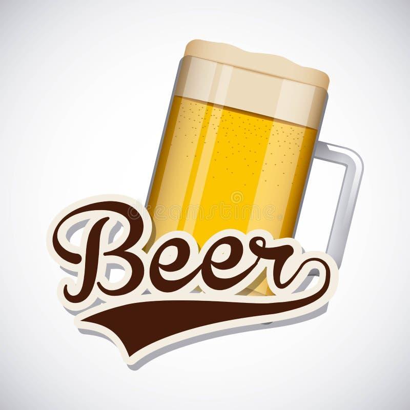 Ice cold beer poster. Vector illustration design stock illustration
