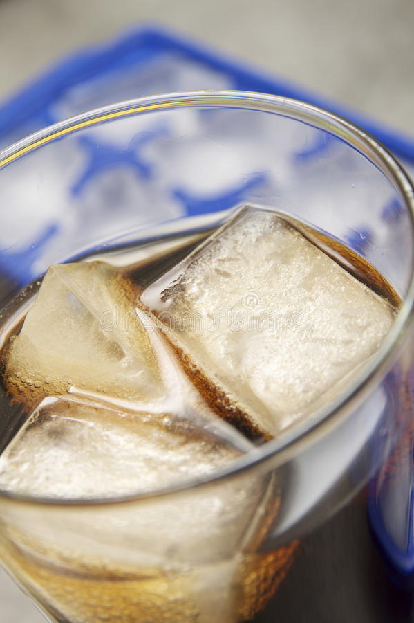 Download Soft Drink In Glass With Ice Stock Photo - Image: 13674722