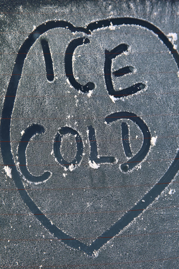 Ice cold message royalty free stock photo