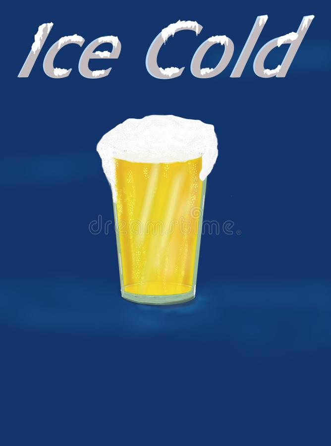 Ice Cold Poster. Graphic Poster royalty free illustration