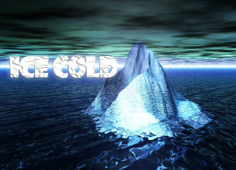 Download Ice Cold Text With Floating Iceberg In Ocean Stock Illustration - Image: 6086686