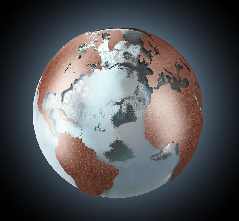 Download Ice and copper Earth stock illustration. Image of background - 24075659
