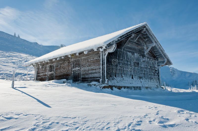Ice Covered Hut Royalty Free Stock Photography