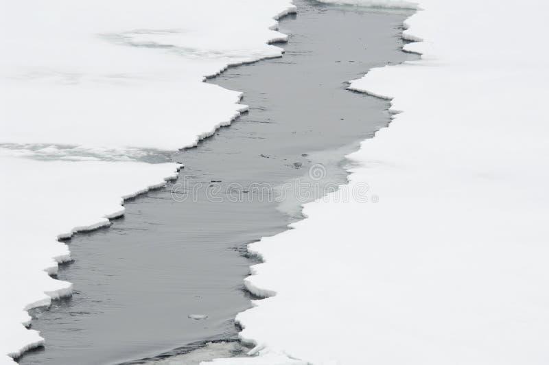 Ice crack stock photography