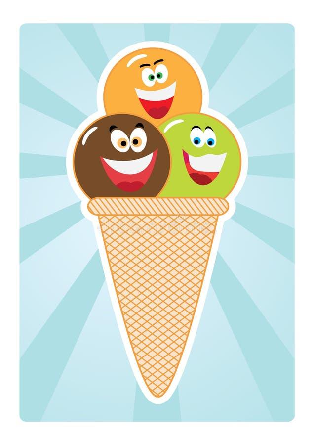 Download Ice cream stock vector. Image of illustration, milk, cone - 20112876