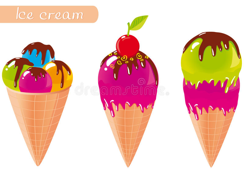 Download Ice cream stock vector. Illustration of cool, chocolate - 25610674
