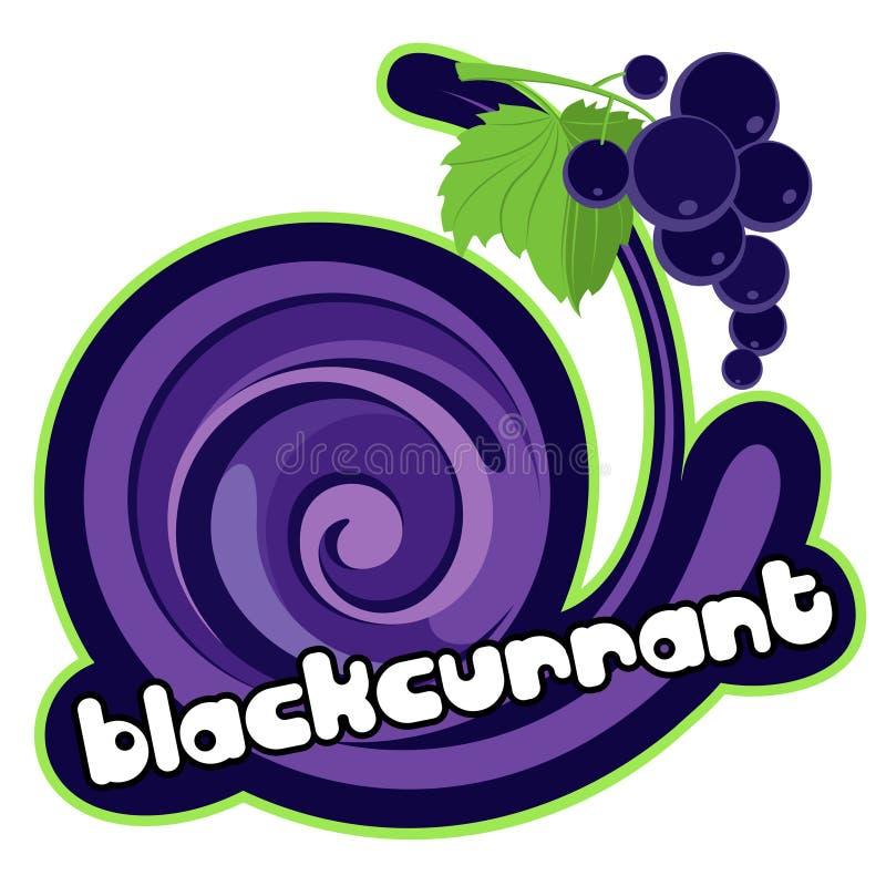 Ice cream blackcurrant royalty free illustration