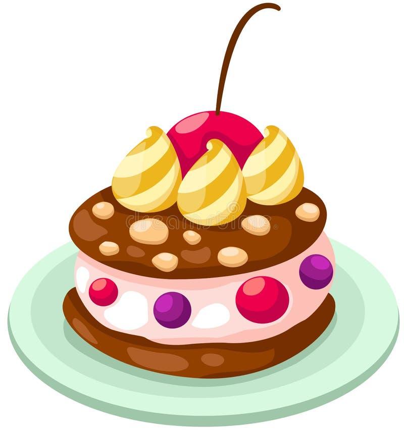 Download Ice cream cake stock vector. Image of freeze, fruit, food - 26327810