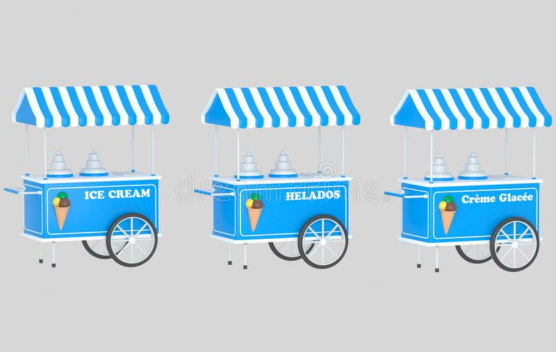 Ice cream car. stock photography