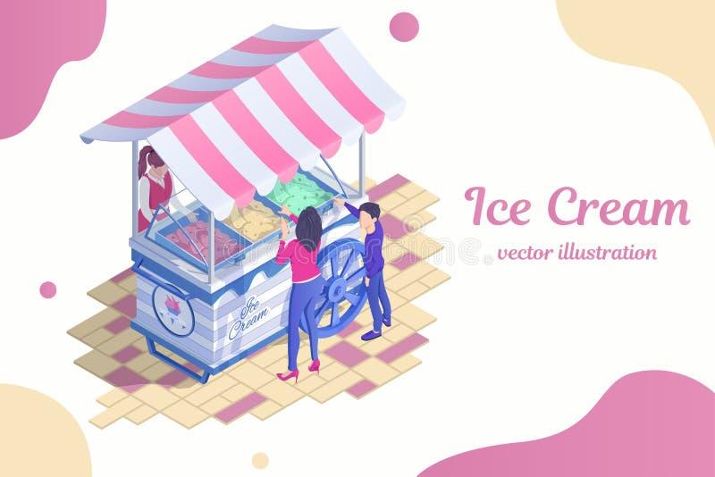 Ice Cream Cart Stock Illustrations – 2,197 Ice Cream Cart
