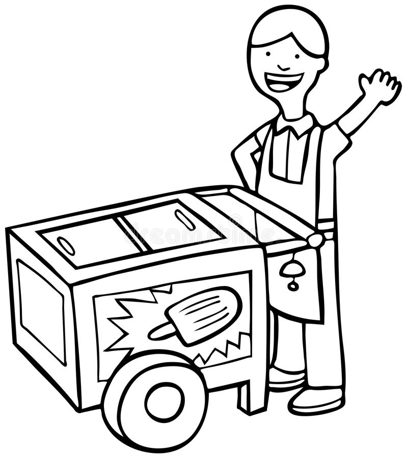 ice cream stand coloring pages - photo#45