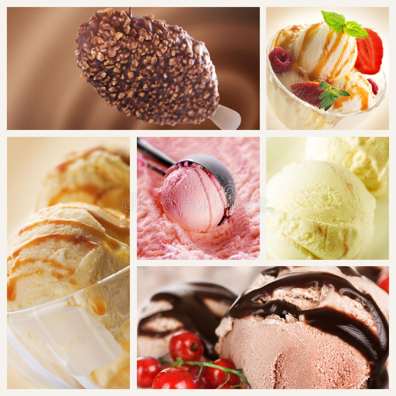 Free Ice Cream Collage Royalty Free Stock Images - 15005009