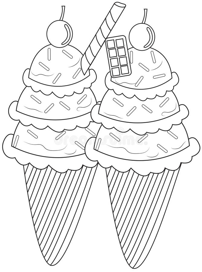 download ice cream coloring page stock illustration image of candies 49893271