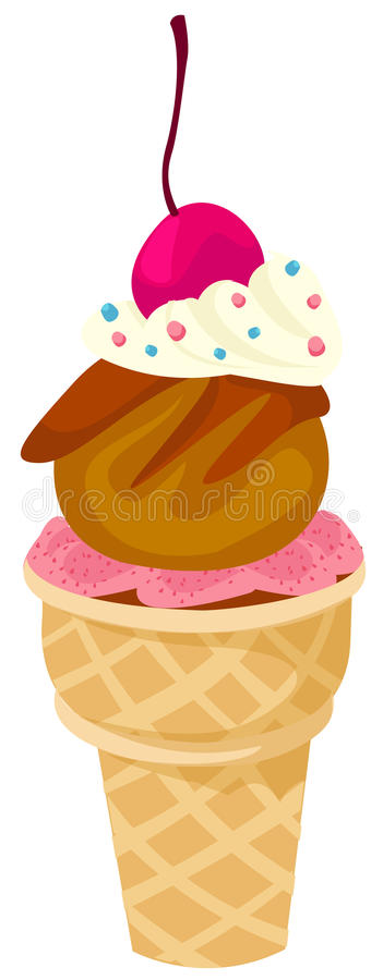 Download Ice cream cone stock vector. Image of dessert, flavor - 13140727