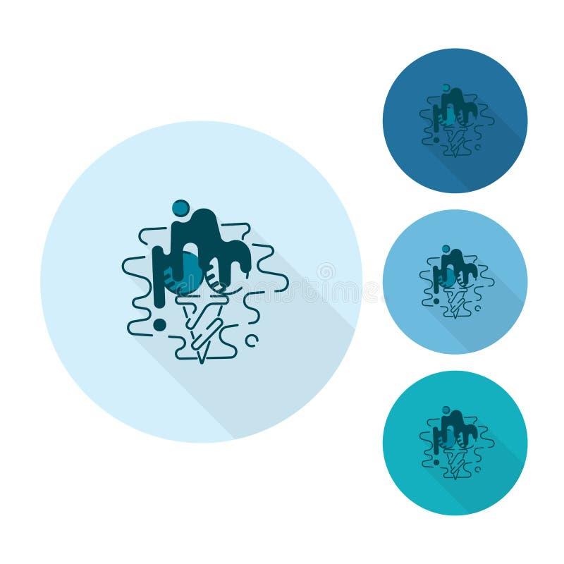 Ice Cream in a Cone vector illustration