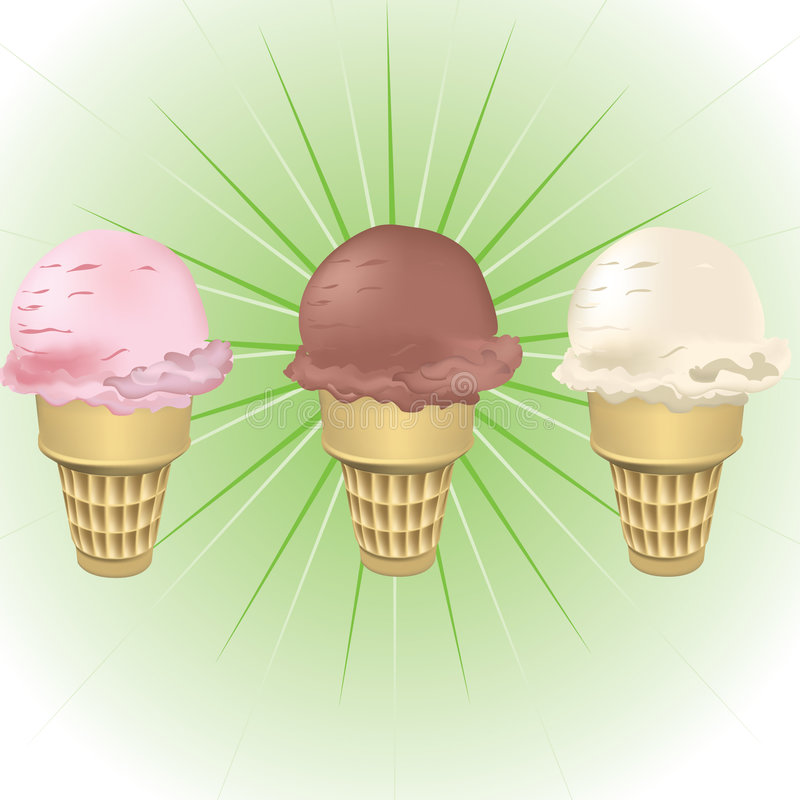 Ice Cream Cones stock images