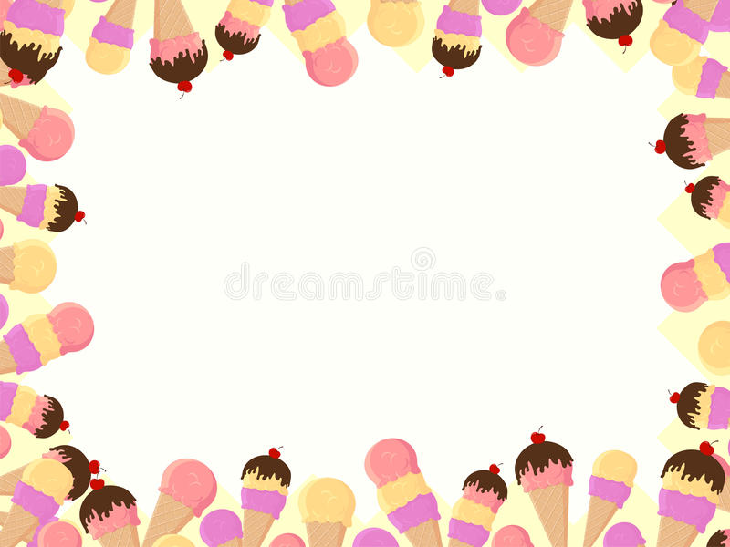 Ice cream cones frame stock vector. Illustration of frame - 19096698