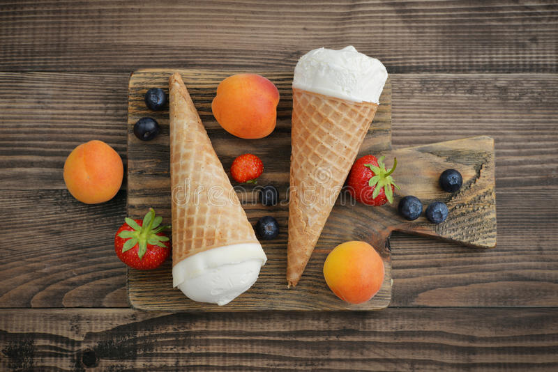 Ice cream in cones royalty free stock image