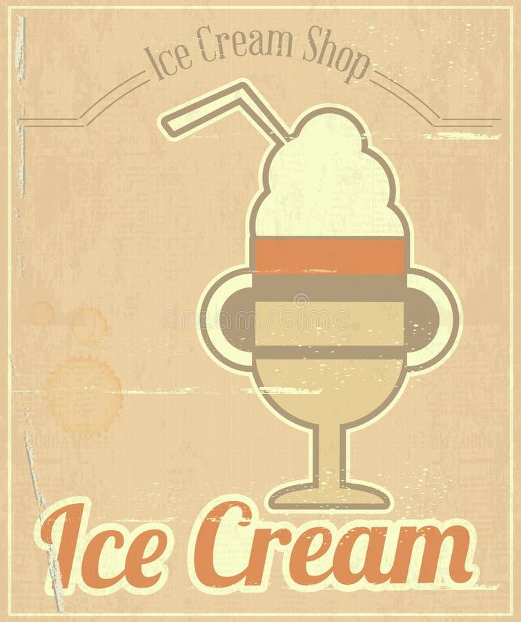 Download Ice Cream Dessert Card stock vector. Illustration of retro - 29869360