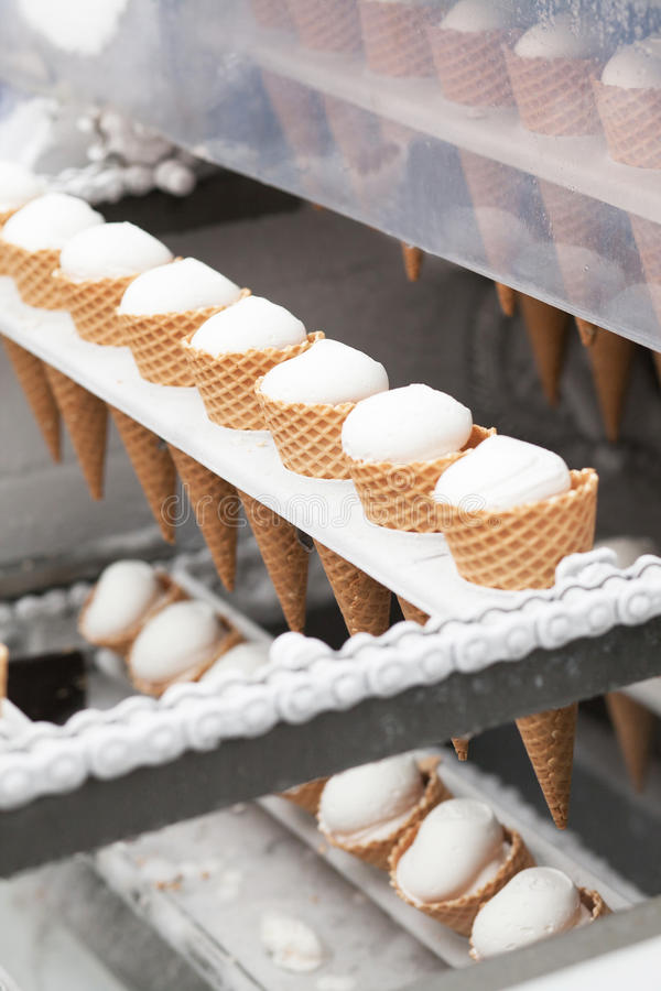 Download Ice-cream on factory stock photo. Image of refrigeration - 31684374