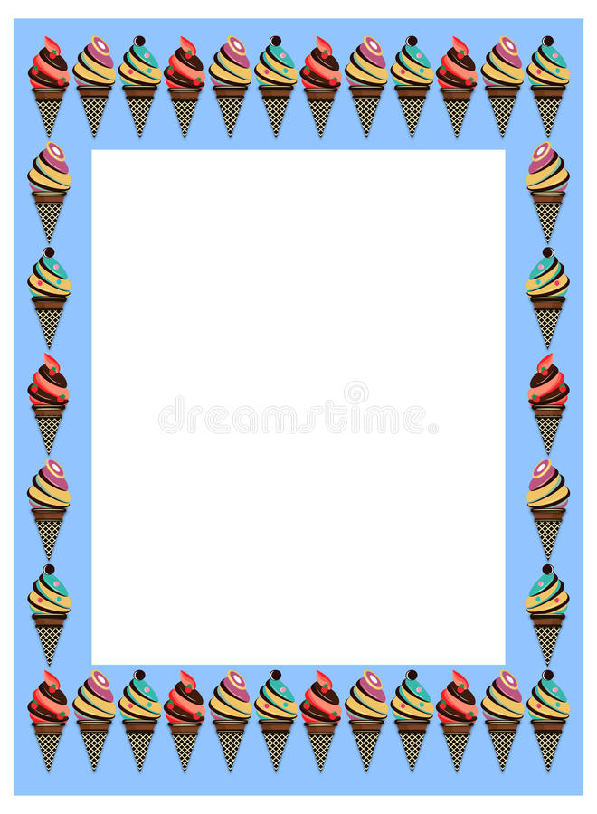 Ice cream frame stock vector. Illustration of frame, cream - 80836248