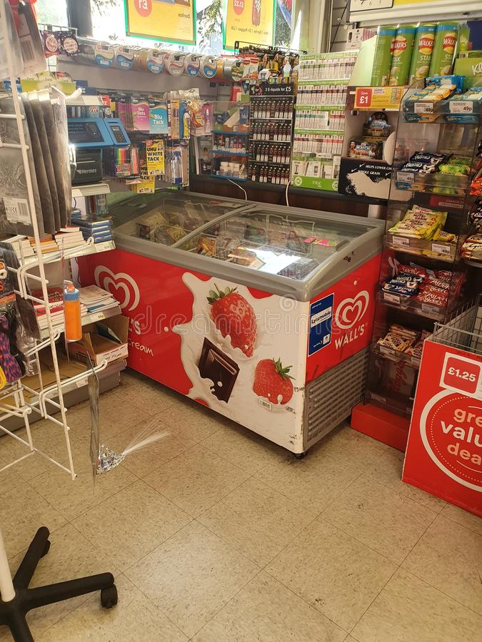Ice cream fridge freezer royalty free stock photo