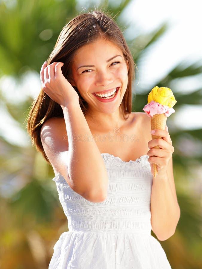 Ice cream girl stock photo