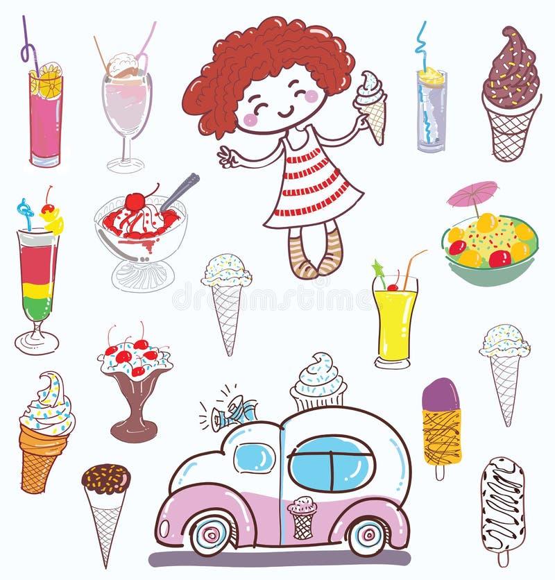 Ice cream and girl