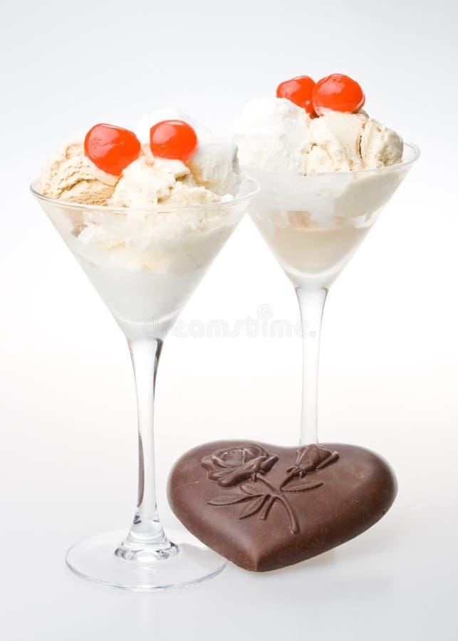 Ice-cream a glass. royalty free stock photos