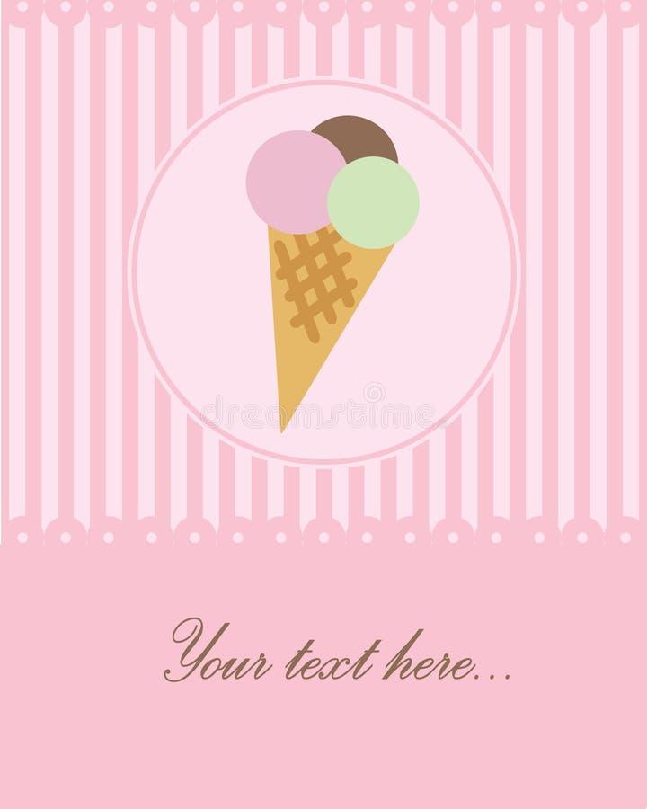 Ice Cream Greeting Card Royalty Free Stock Image