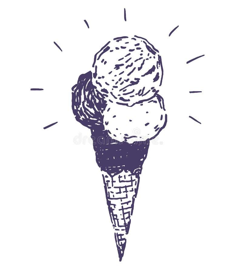 Ice cream hand drawn royalty free stock photo