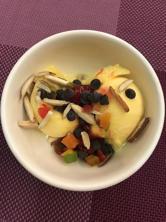 Ice cream homemade stock photo