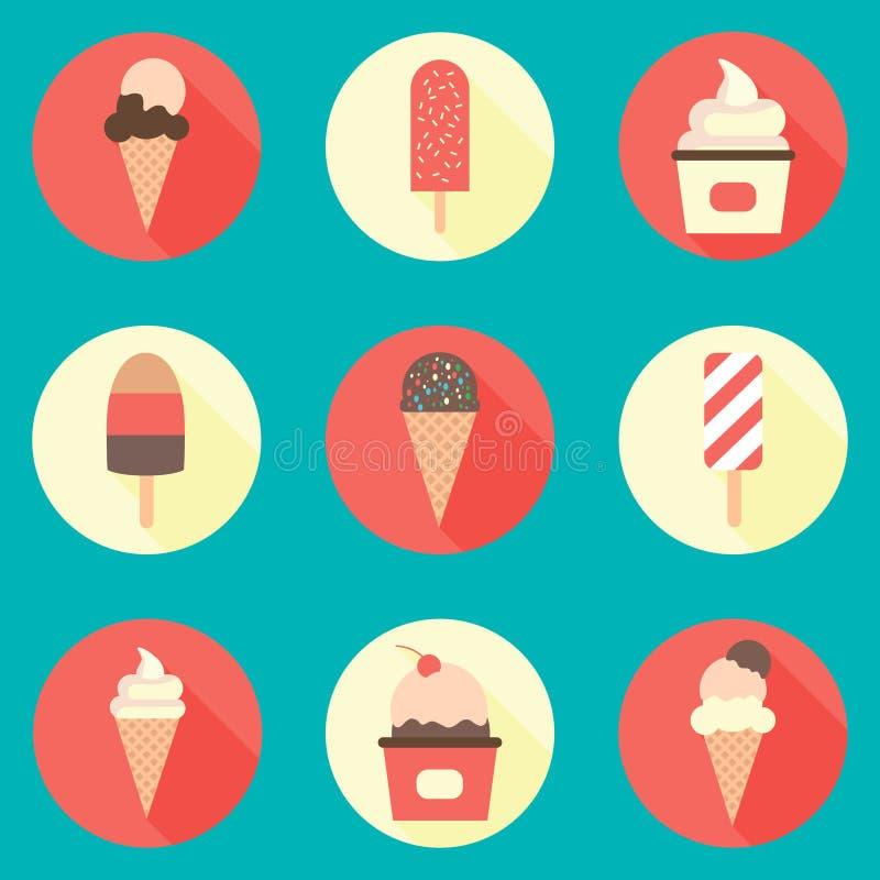 Ice-cream icon set stock images