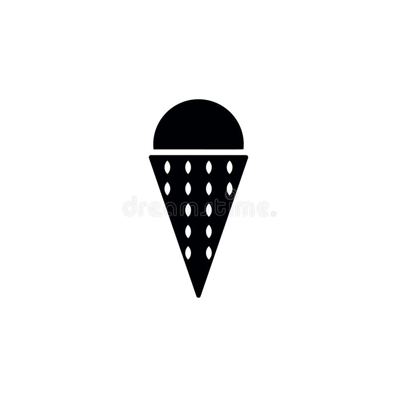 Ice cream icon. Simple glyph vector of universal set icons for UI and UX, website or mobile application. On white background vector illustration